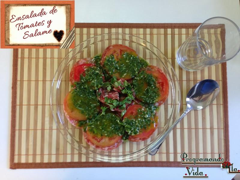 Ensalada de Tomates y Salame