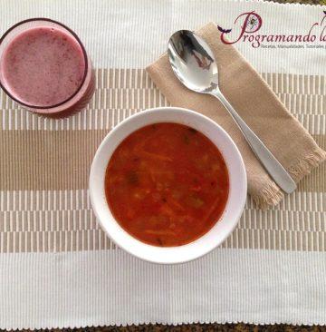 Sopa de Vegetales y Pasta o Minestrone