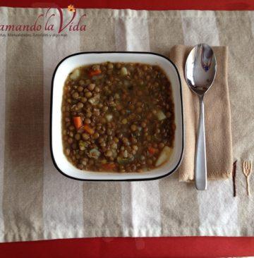 Sopa de Lentejas Vegetariana