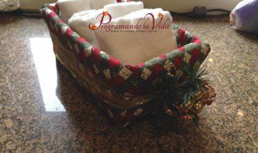 Decoración de Cesta para Navidad