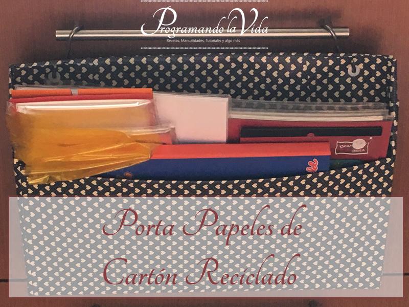Porta Papeles de Cartón Reciclado