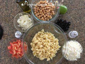 Ingredientes-Ensalada de Pasta Estilo Griego