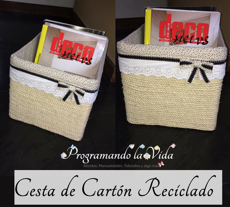Cesta De Cartón Reciclado