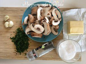 Ingredientes-Champiñones Al Ajillo
